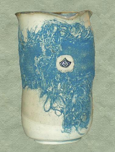 Blue Material Vase Ceramic Art