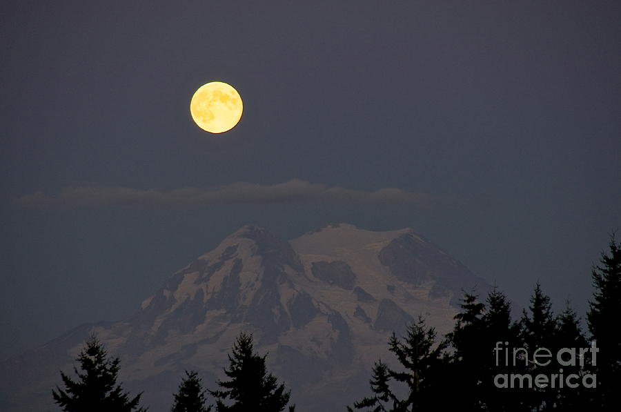 Blue Moon - Mount Rainier Photograph