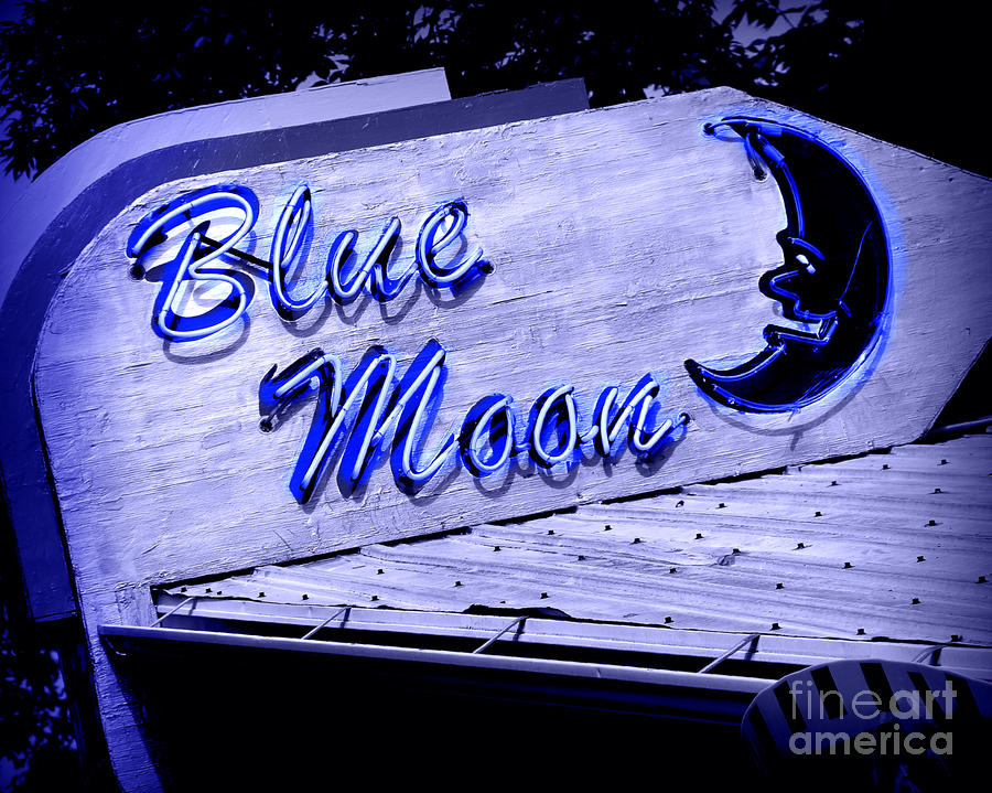 Blue Moon Photograph  - Blue Moon Fine Art Print