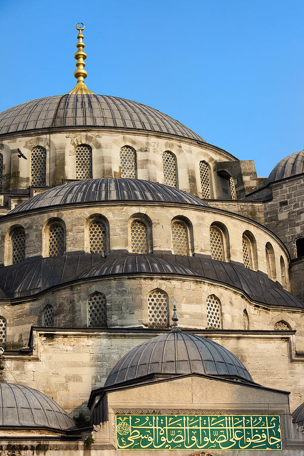 Blue Mosque Domes Photograph