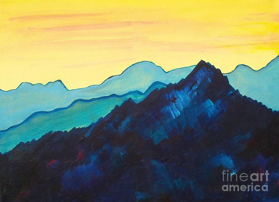 Landscape Painting - Blue Mountain II by Silvie Kendall