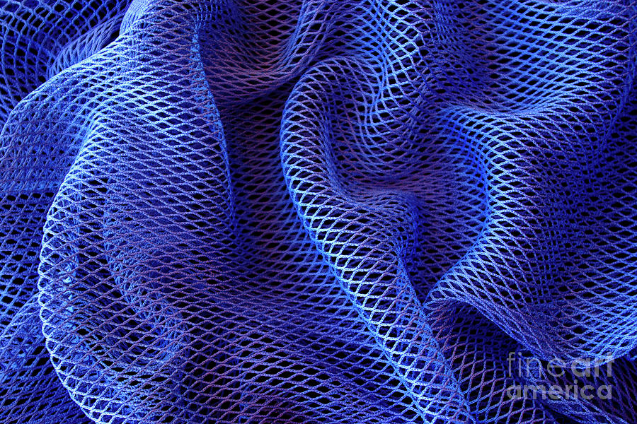 Blue Net Background Photograph