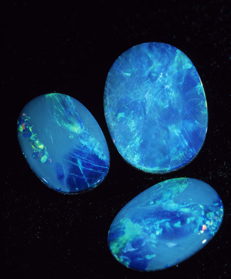 blue opal gemstones photograph by lawry