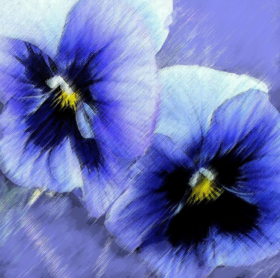 blue pansies by jane schnetlage