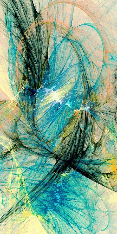 Blue Phoenix Digital Art  - Blue Phoenix Fine Art Print