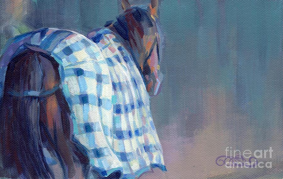 Blue Plaid Painting