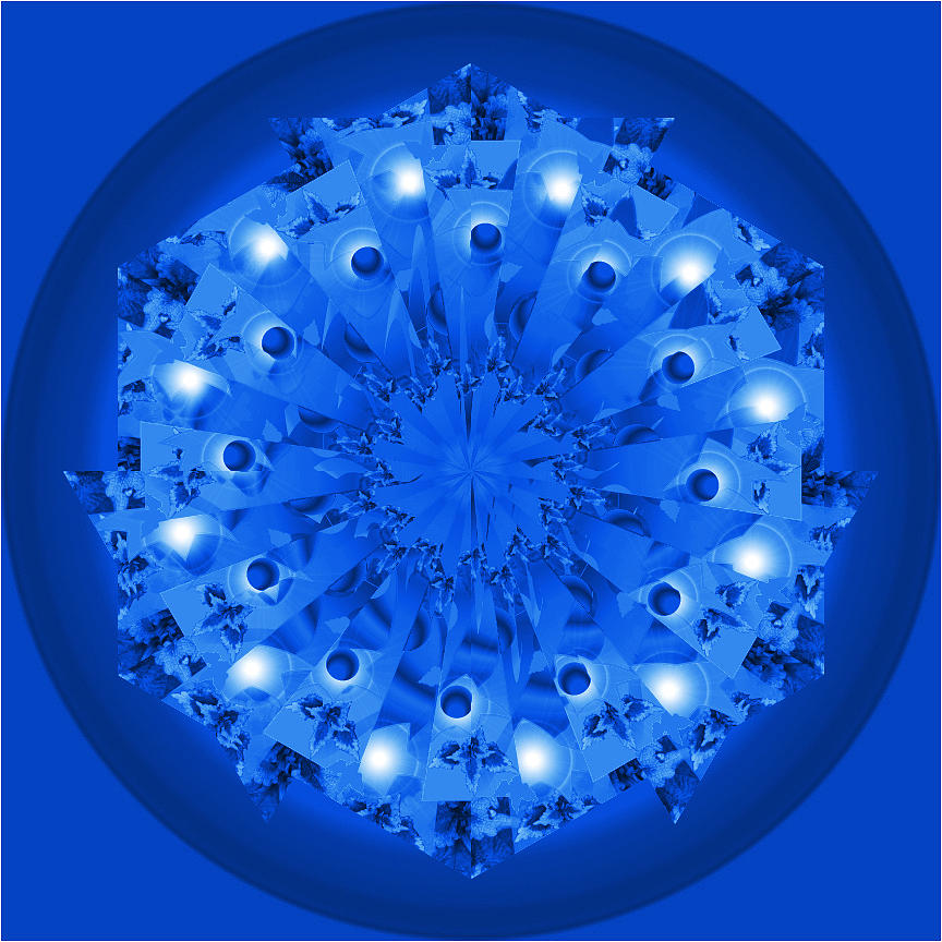 Blue Plate Digital Art  - Blue Plate Fine Art Print