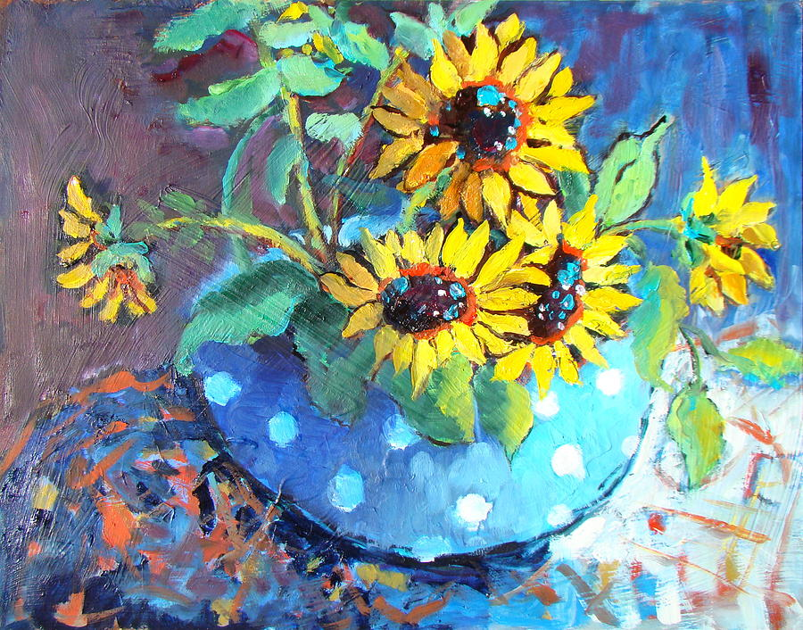 Blue Polka Dot Bowl Painting