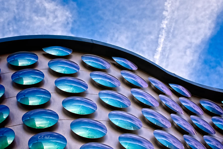 Blue Polka-dot Wave Photograph  - Blue Polka-dot Wave Fine Art Print