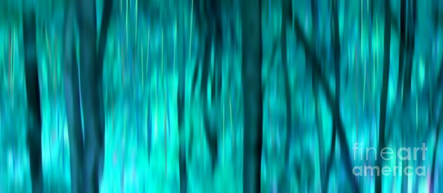 Blue Rain Forest Digital Art  - Blue Rain Forest Fine Art Print