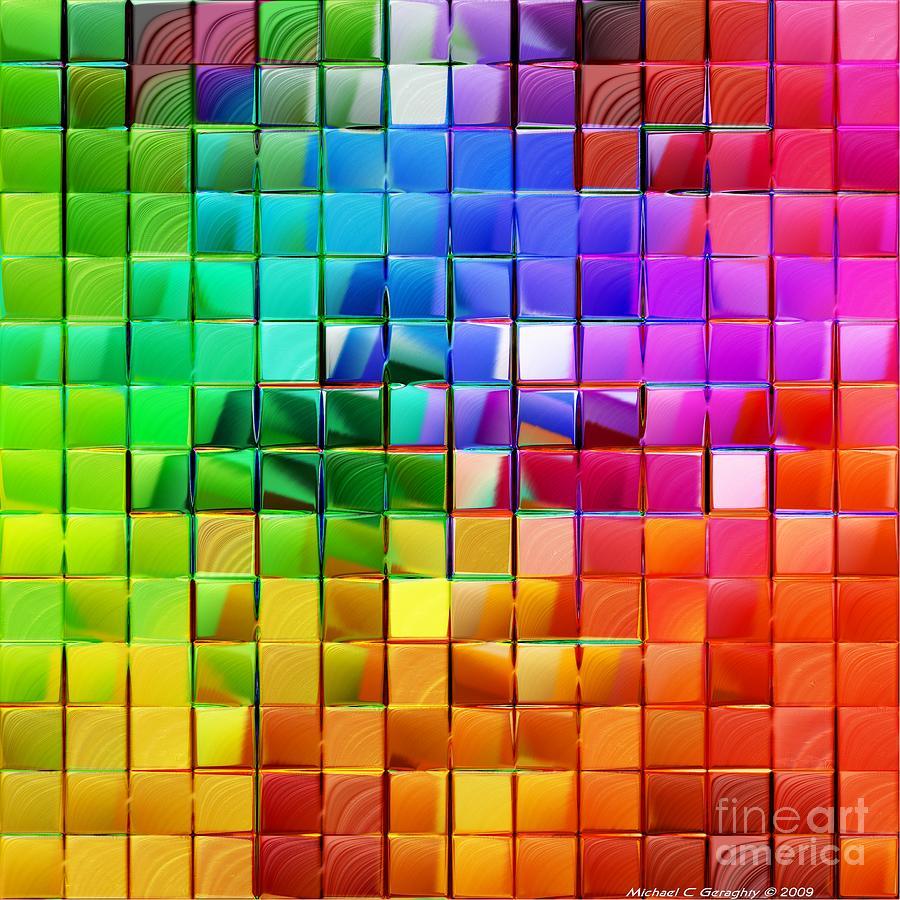 Blue Reflection Abstract Digital Art