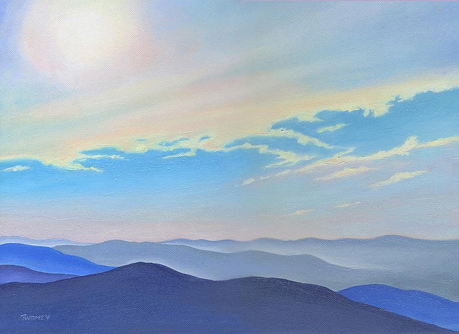 Blue Ridge Blue Painting  - Blue Ridge Blue Fine Art Print