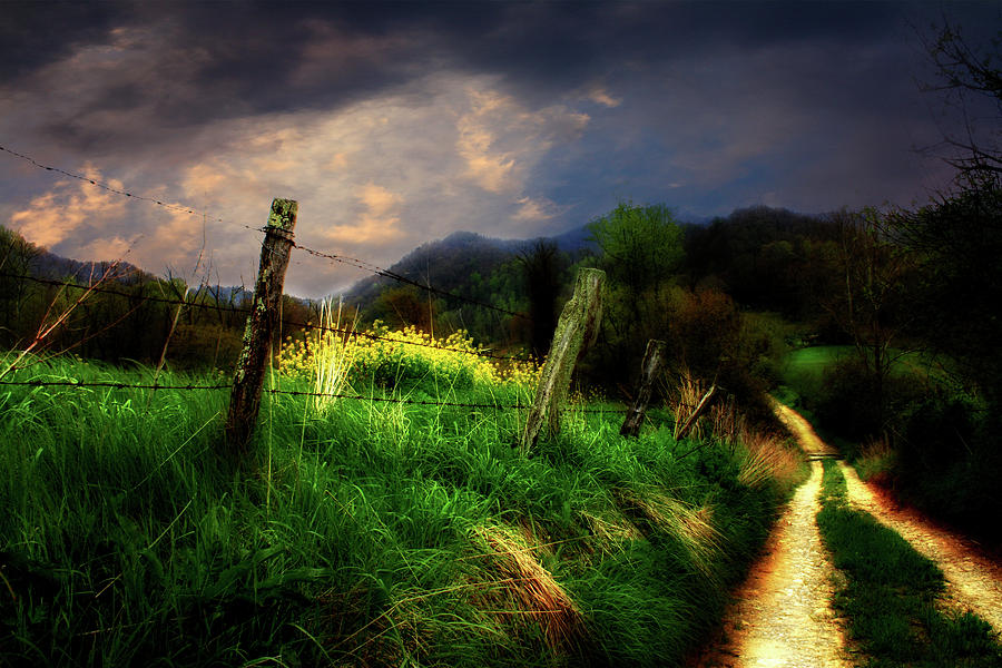 Blue Ridge Mountain Country Road Photograph  - Blue Ridge Mountain Country Road Fine Art Print