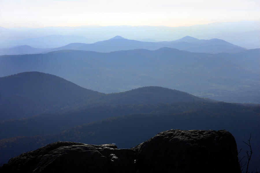 Backgrounds Photograph - Blue Ridge Mountains by Emanuel Tanjala