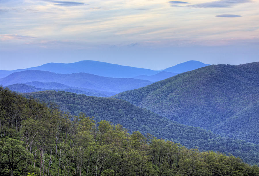 Blue Ridge Mountains Of Shenandoah National Park Virginia Photograph