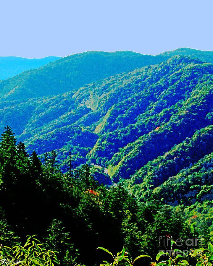 Great smoky mountains railroad blue ridge parkway tattoo for Blue ridge mountain tattoo