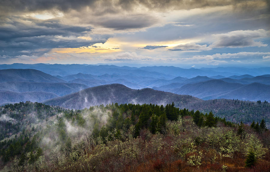 Blue Ridge Parkway Scenic Landscape Photography - Blue Ridge Blues Photograph