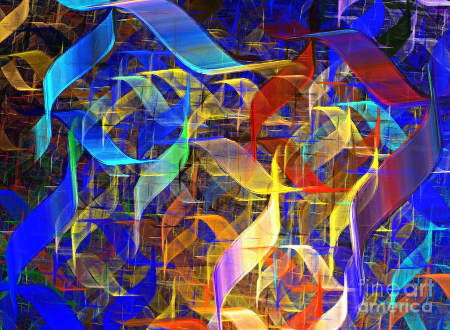 Blue Shift Digital Art  - Blue Shift Fine Art Print