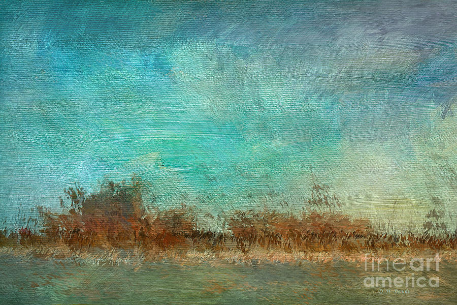 Blue Sky And Beach Mixed Media  - Blue Sky And Beach Fine Art Print