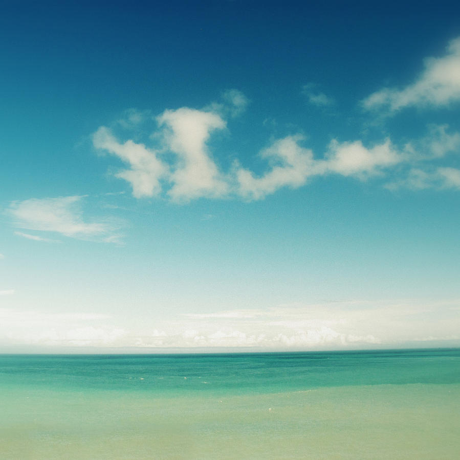 Blue Sky Over Ocean Photograph  - Blue Sky Over Ocean Fine Art Print