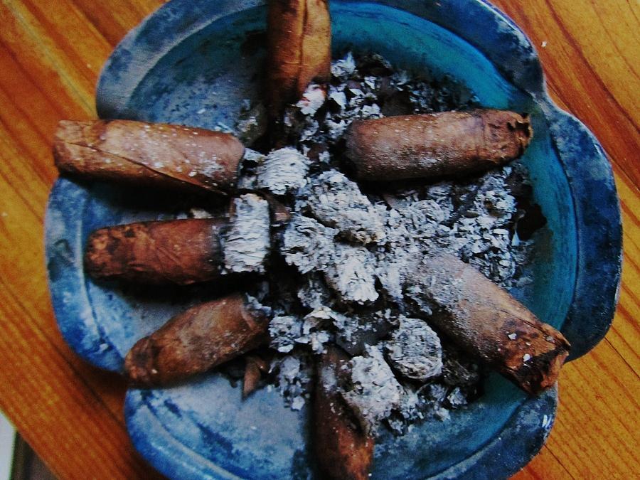 Blue Smoke Photograph