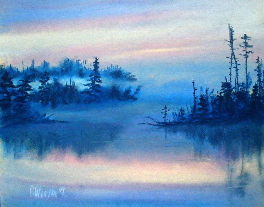 Blue Solitude Painting