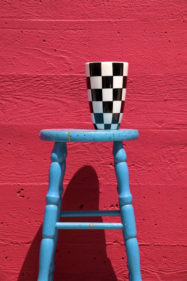 Blue Stool Photograph  - Blue Stool Fine Art Print