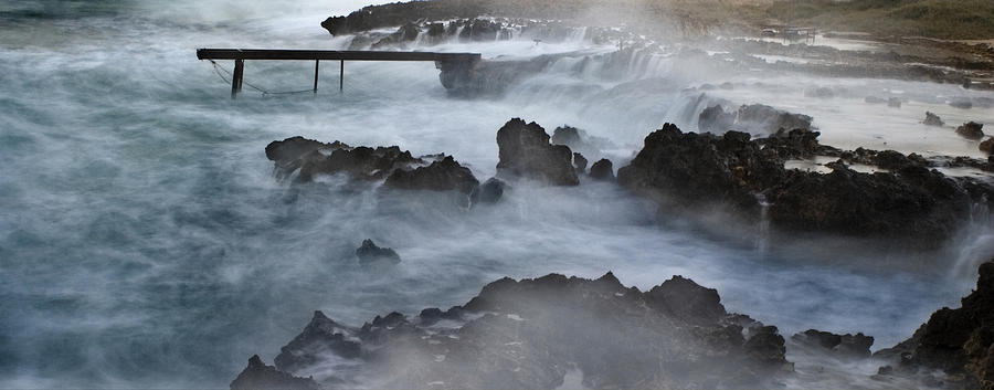 Beach Photograph - Blue Storm..protaras by Stelios Kleanthous