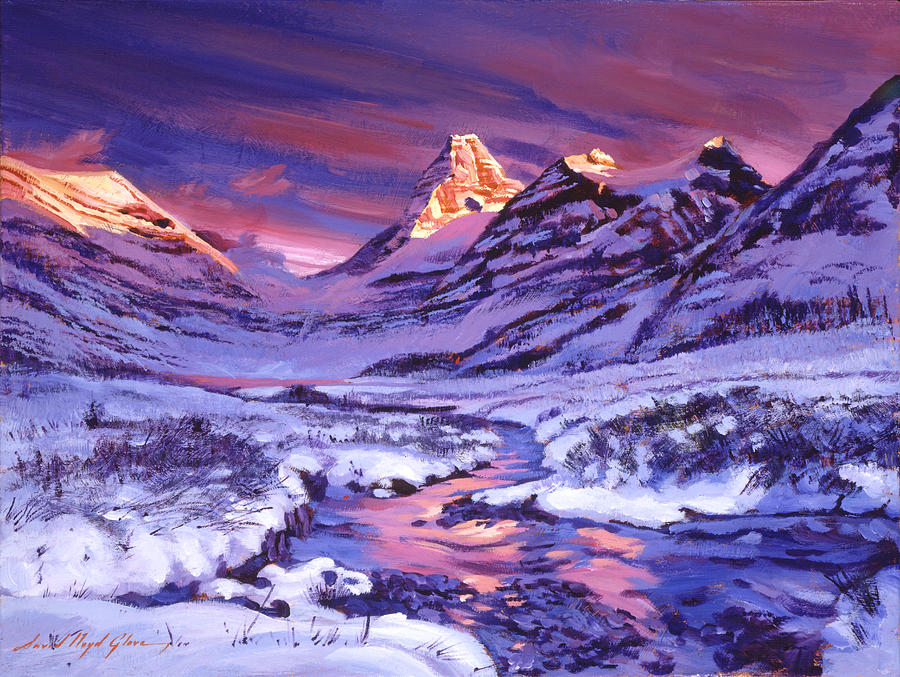 Blue Sunrise Painting