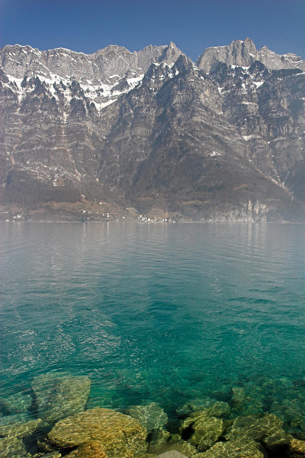 Blue Swiss Lagoon Photograph