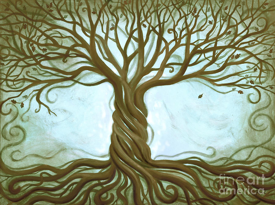 Blue Tree Of Life Painting