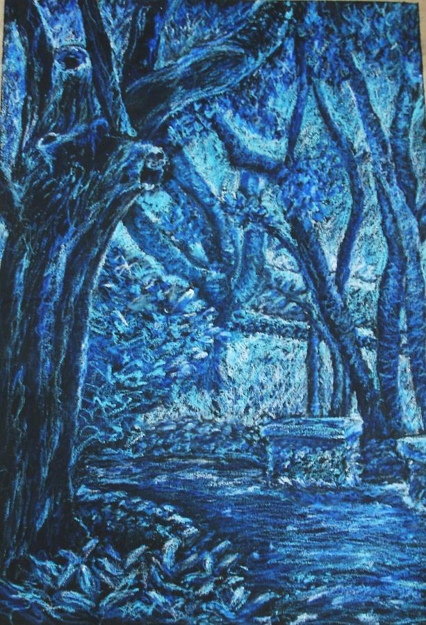 Blue Trees Pastel