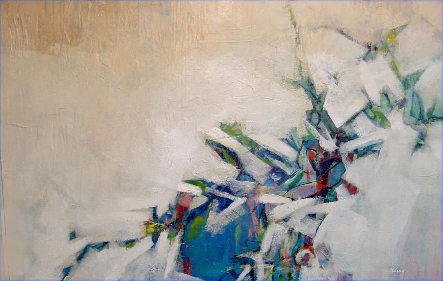Still Life With Blue Vase Painting - Blue Vase by Dale  Witherow