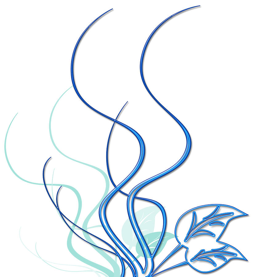 Blue Vine Digital Art