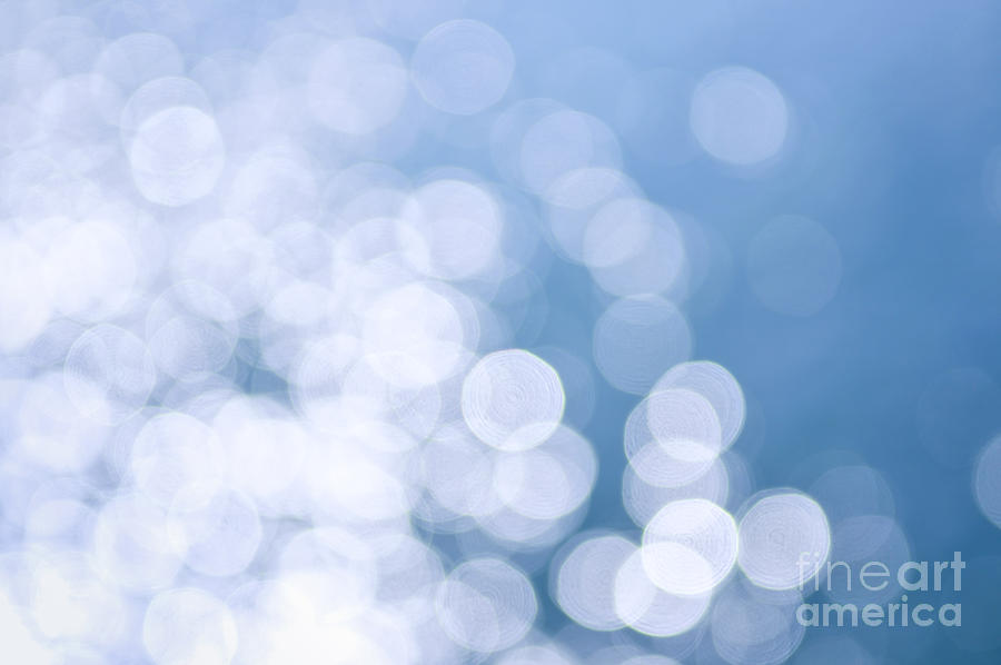 Blue Water And Sunshine Abstract Photograph  - Blue Water And Sunshine Abstract Fine Art Print