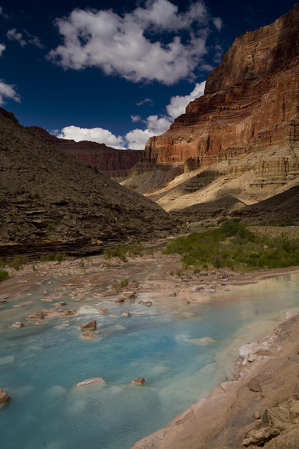 Blue Water, Travertine, Little Colorado Photograph  - Blue Water, Travertine, Little Colorado Fine Art Print