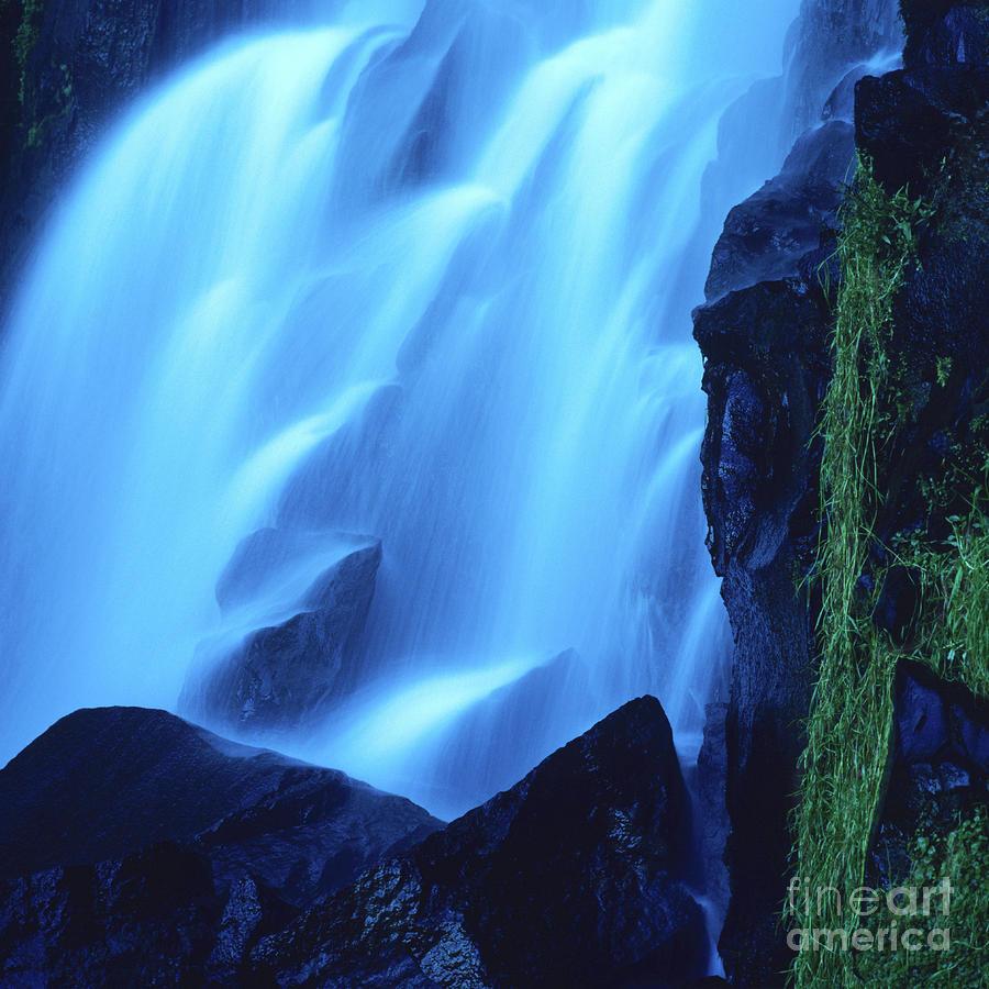 Blue Waterfall Photograph
