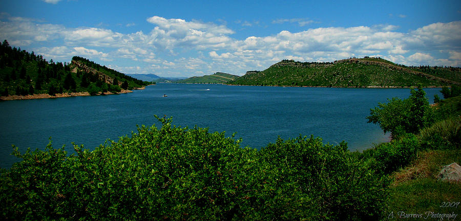 Blue Waters Of Horsetooth Reservoir Photograph  - Blue Waters Of Horsetooth Reservoir Fine Art Print