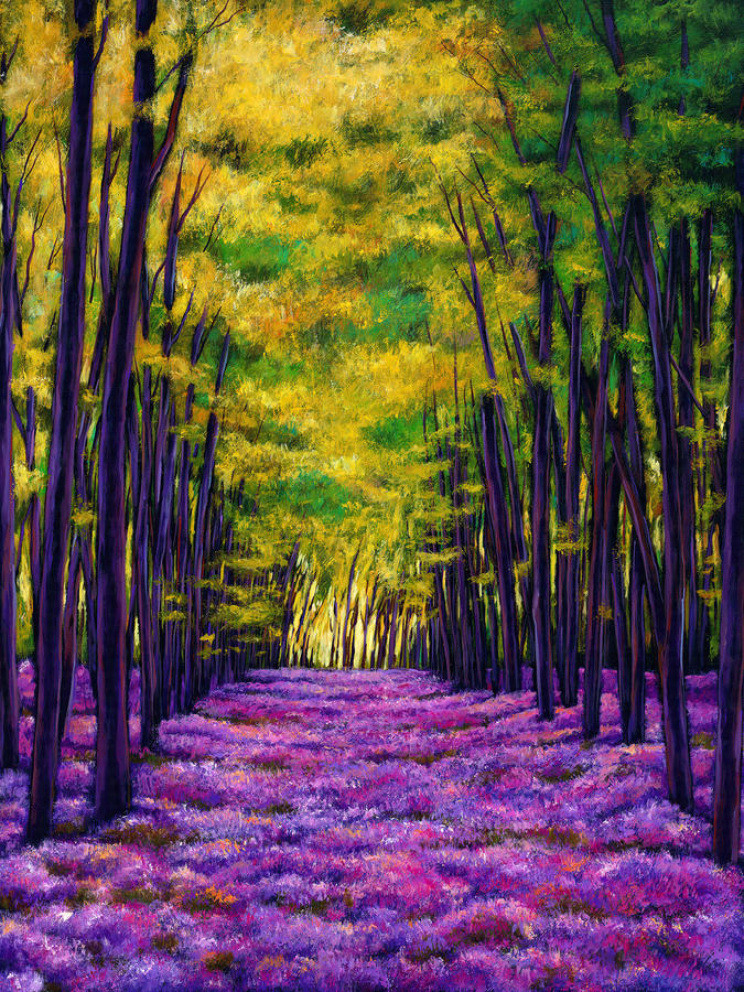 Bluebell Vista Painting  - Bluebell Vista Fine Art Print