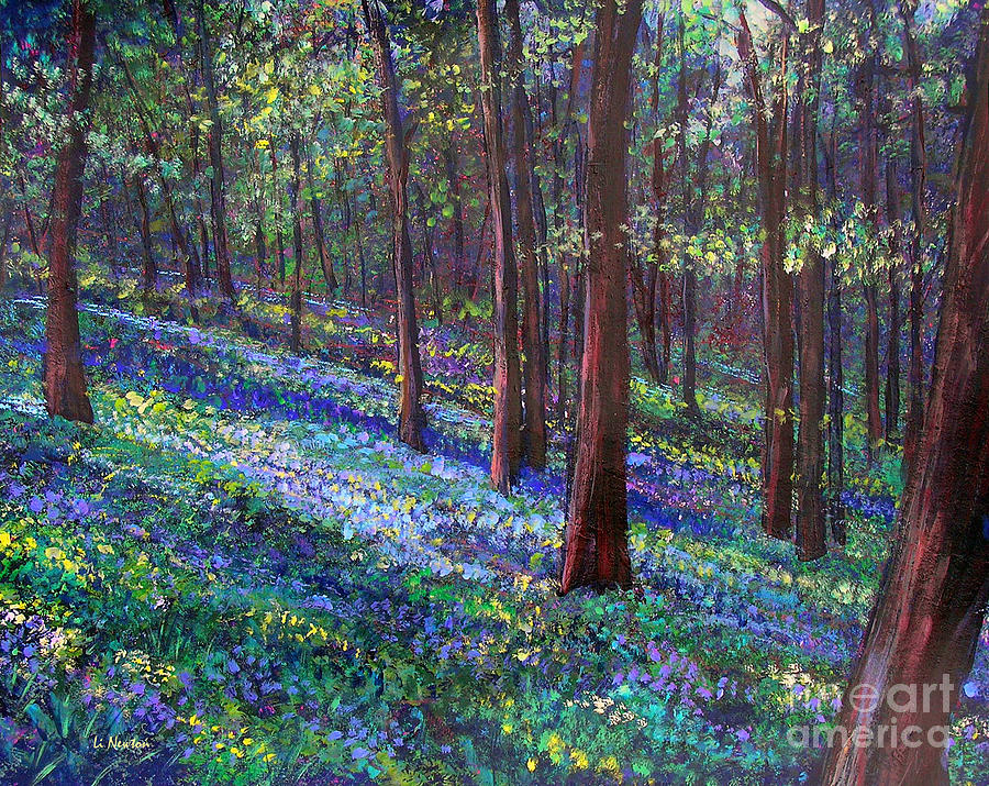 Bluebell Woods Painting  - Bluebell Woods Fine Art Print