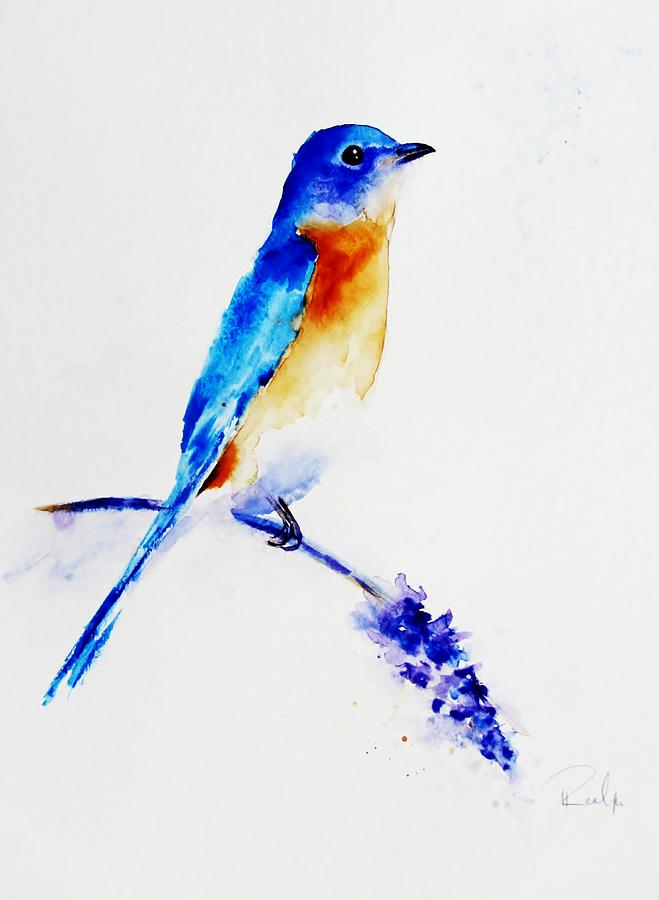 Bluebird Of Happiness  Painting  - Bluebird Of Happiness  Fine Art Print