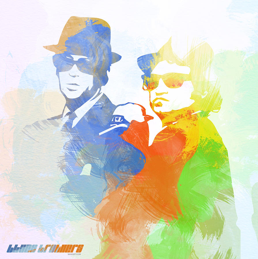 Blues Brothers Digital Art  - Blues Brothers Fine Art Print