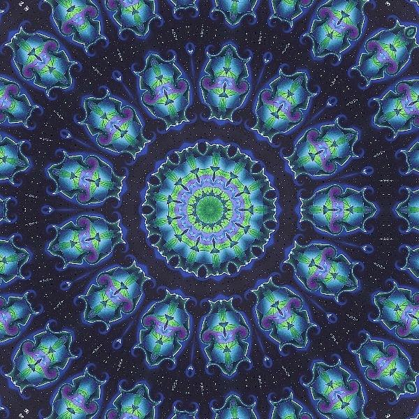 Kaleidoscope Photograph - Blues by Yvette Pichette