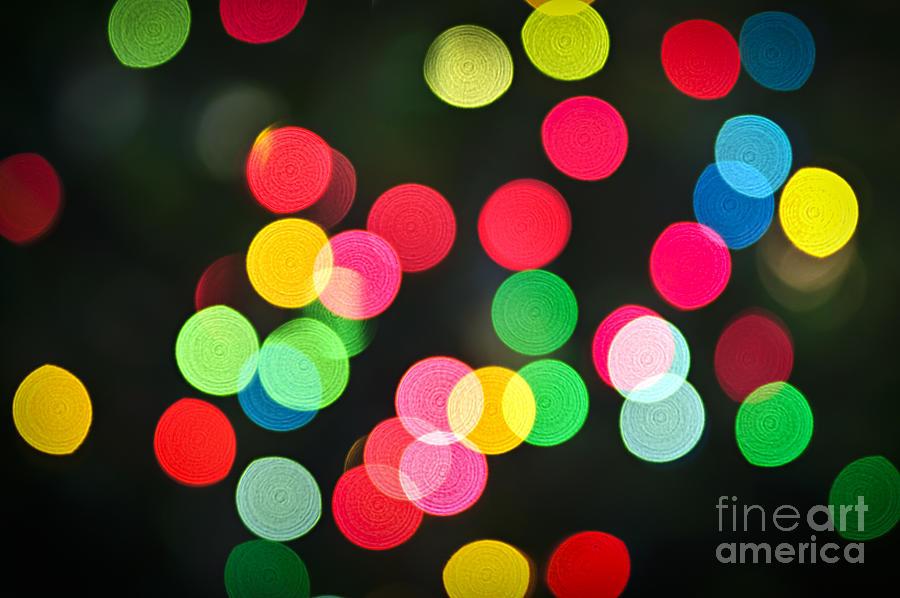 Blurred Christmas Lights Photograph