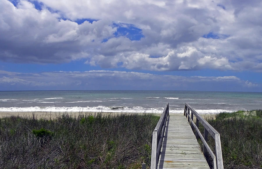 Boardwalk To The Beach Photograph  - Boardwalk To The Beach Fine Art Print