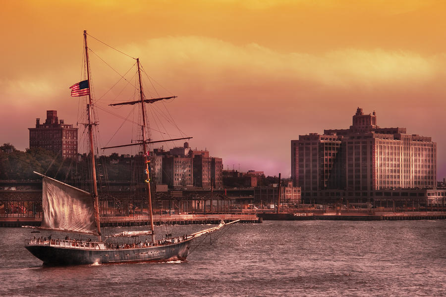 Boat - Ny - The Clipper  Photograph  - Boat - Ny - The Clipper  Fine Art Print
