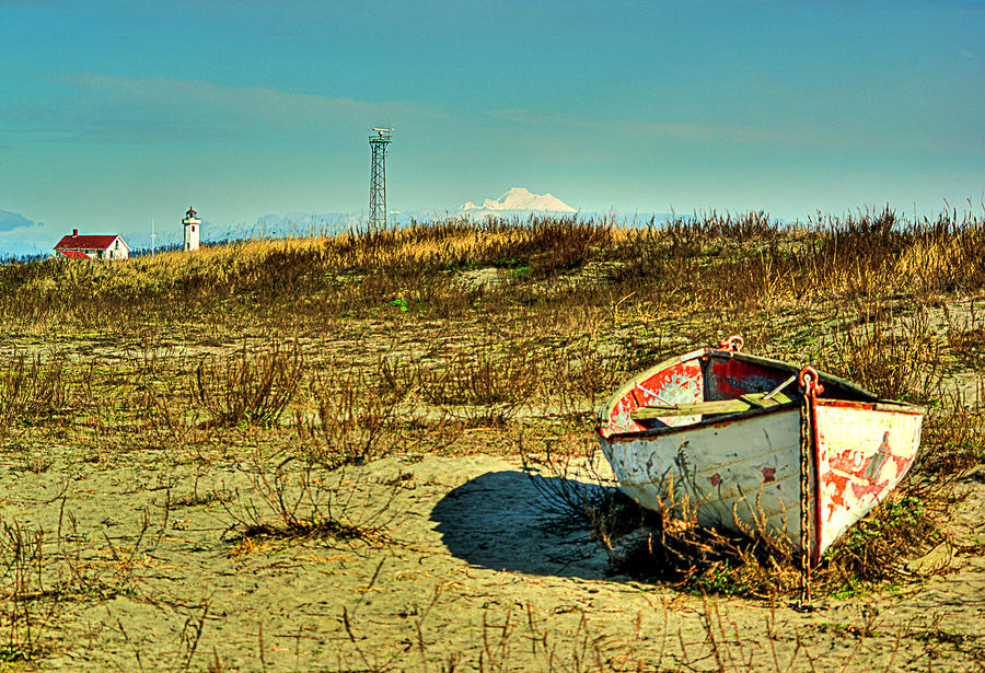 Boat At Point Wilson Photograph  - Boat At Point Wilson Fine Art Print
