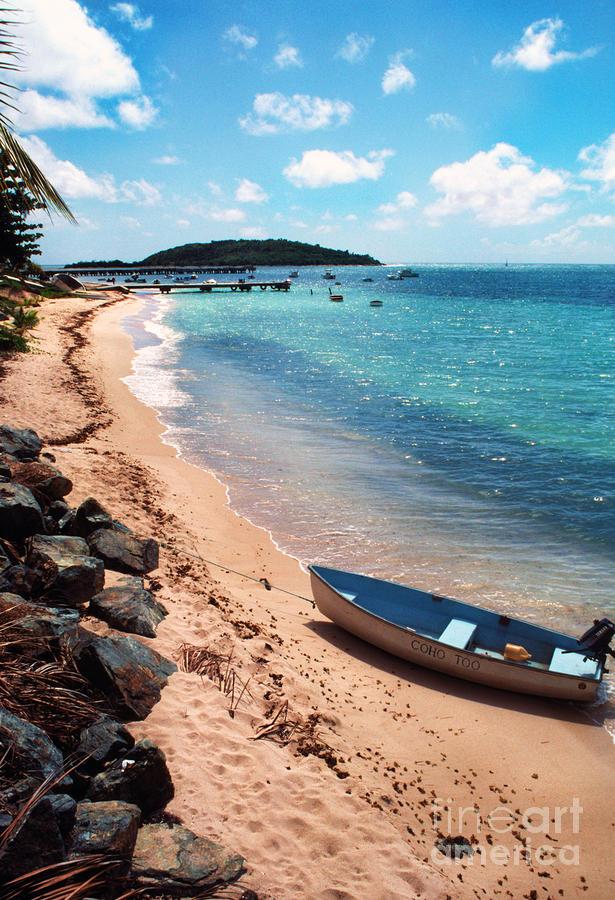 Boat Beach Vieques Photograph