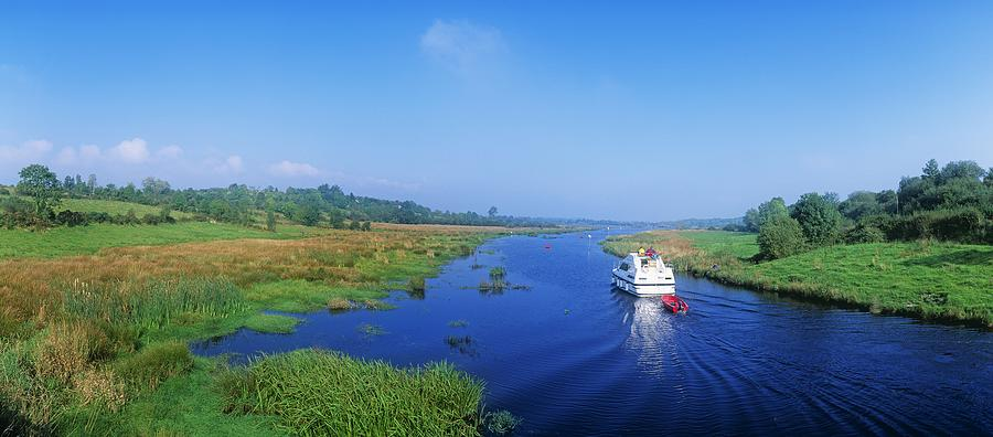 Cloud Photograph - Boat In The River, Shannon-erne by The Irish Image ...