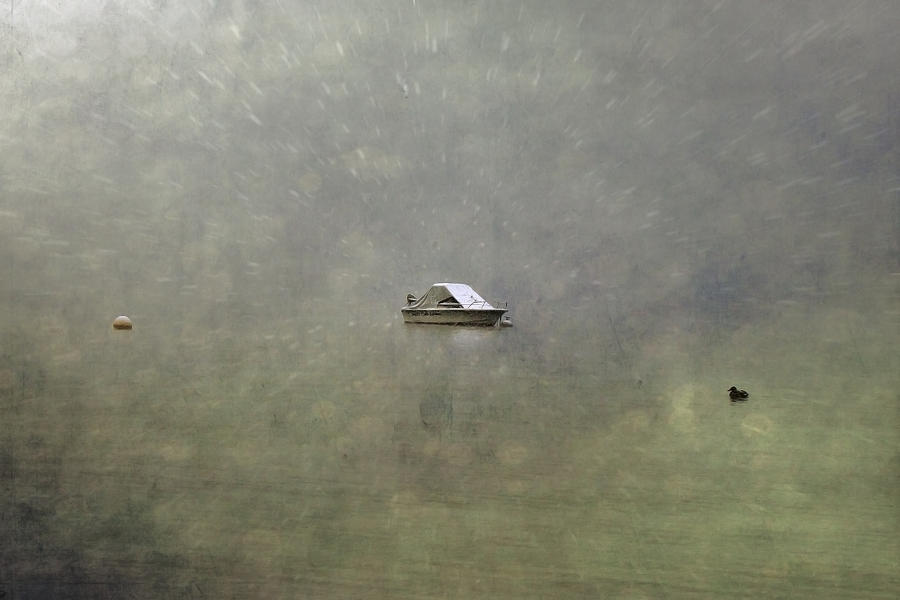 Boat In The Snow Photograph